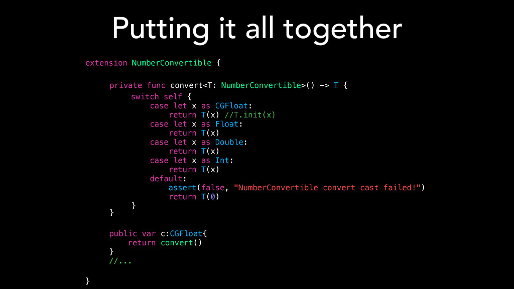 Putting it all together extension NumberConvert...