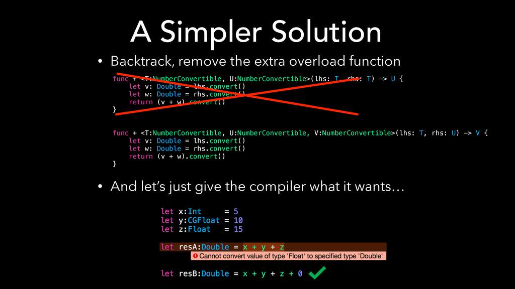 func + <T:NumberConvertible, U:NumberConvertibl...