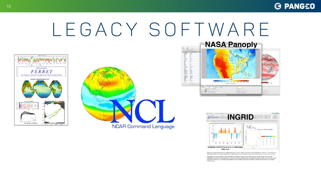 !16 NASA Panoply INGRID L e g a c y s o f t w a...