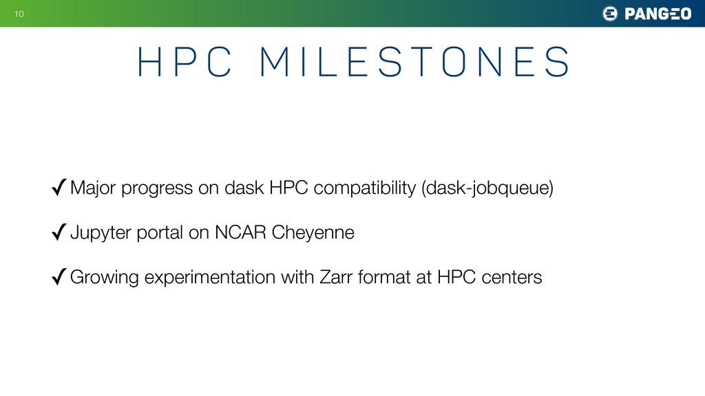 ✓Major progress on dask HPC compatibility (dask...