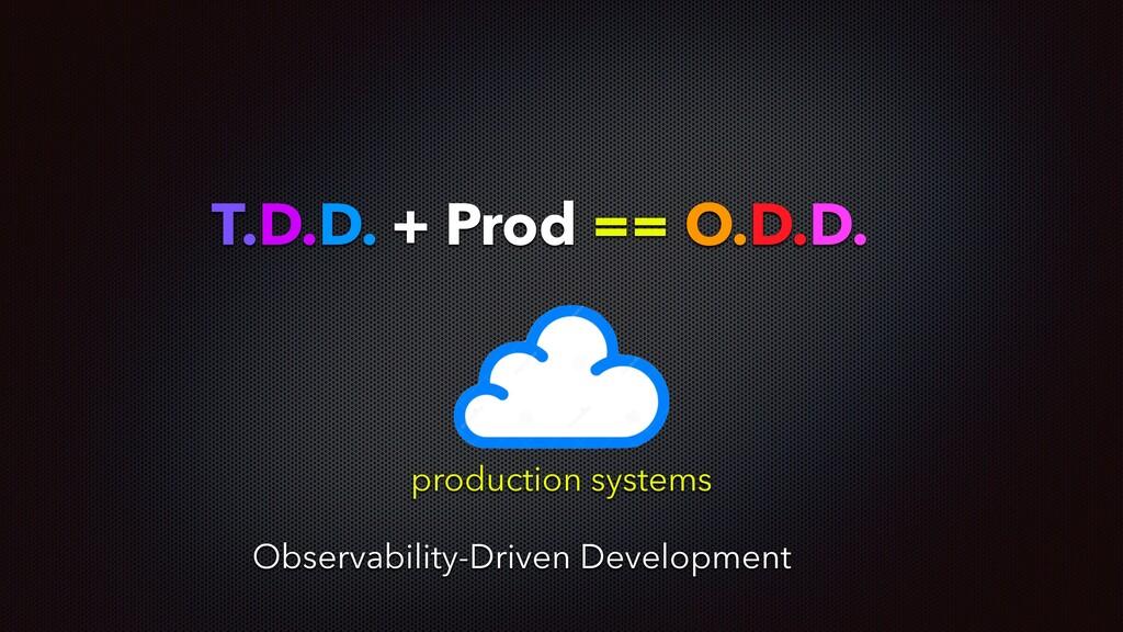 T.D.D. + Prod == O.D.D. production systems Obse...