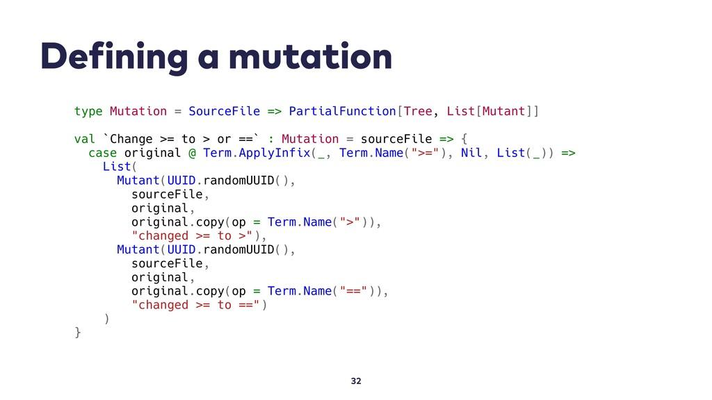 Defining a mutation 32 type Mutation = SourceFi...