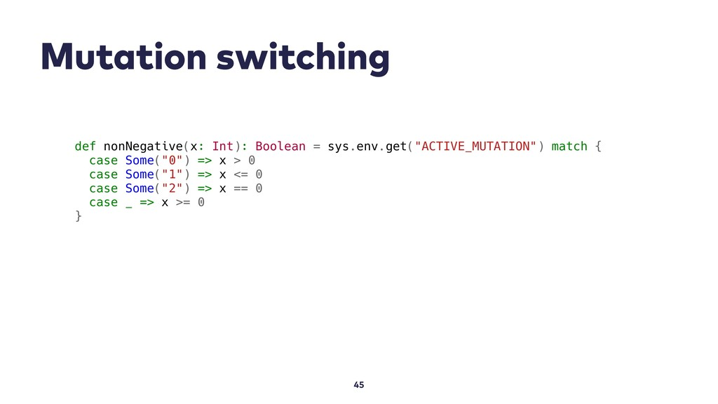 Mutation switching 45 def nonNegative(x: Int): ...