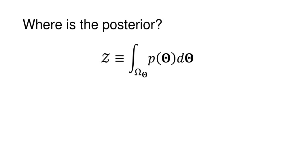 Where is the posterior?  ≡ Ω