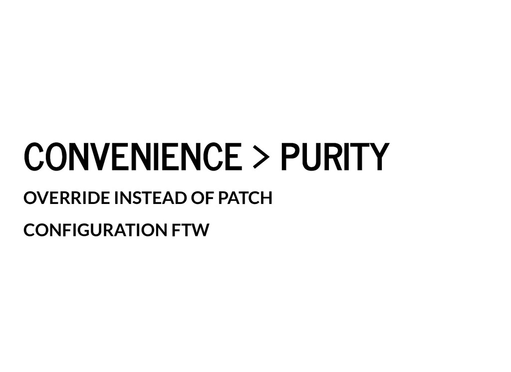 CONVENIENCE > PURITY CONVENIENCE > PURITY OVERR...