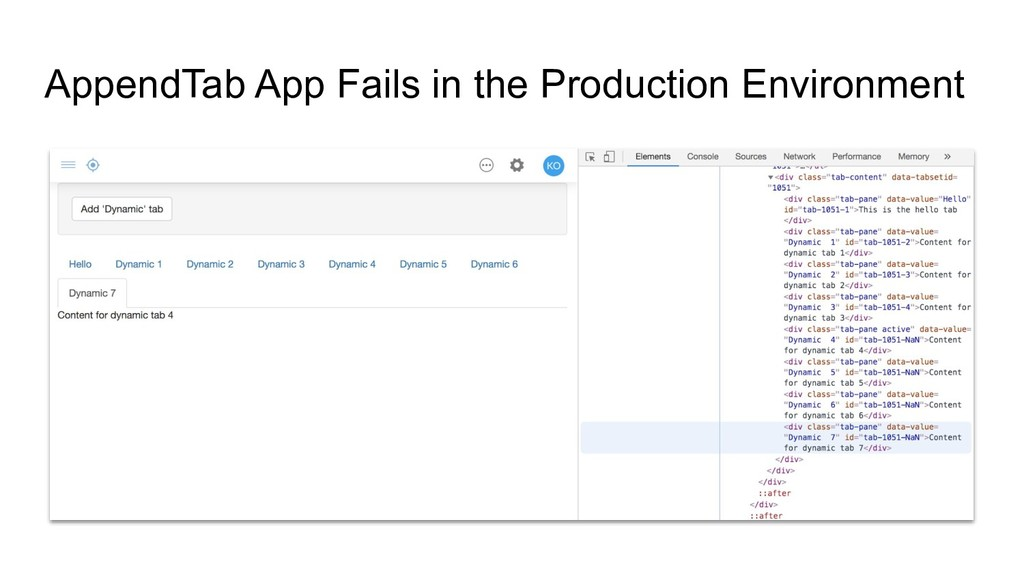 AppendTab App Fails in the Production Environme...