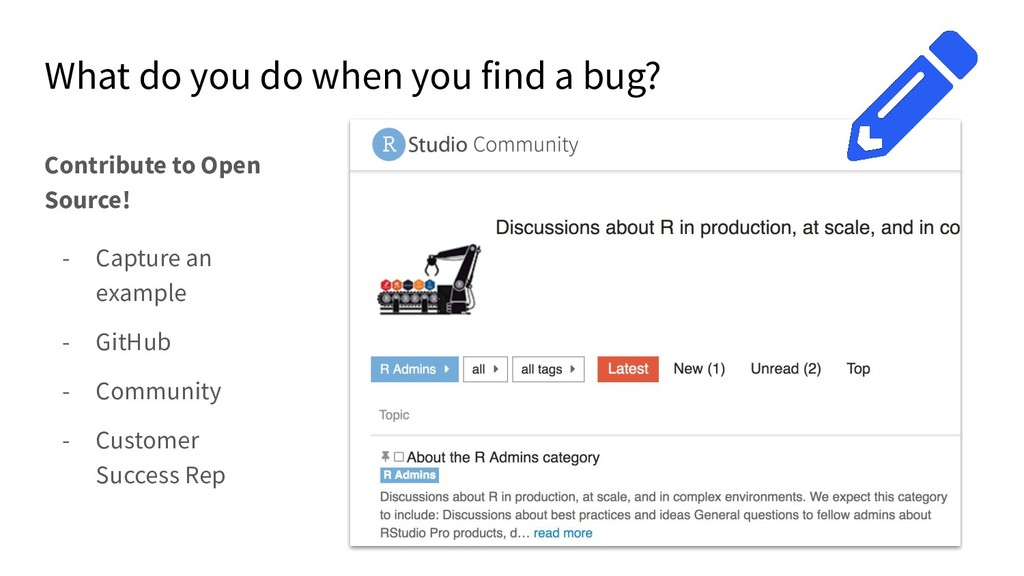 What do you do when you find a bug? Contribute ...