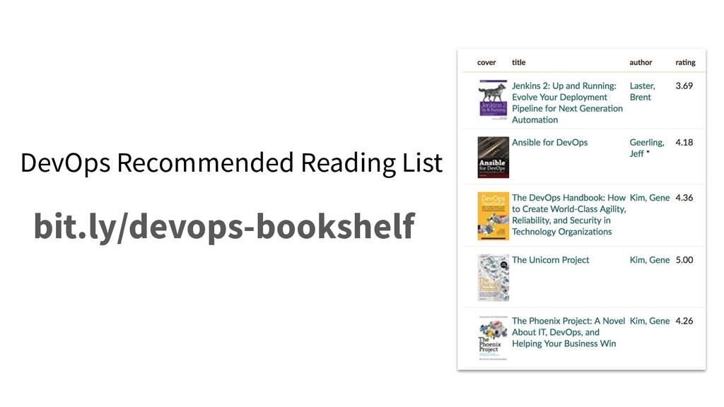 DevOps Recommended Reading List bit.ly/devops-b...