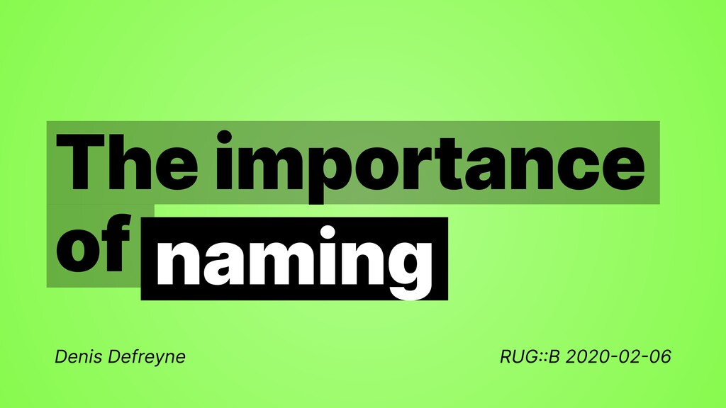 The importance   of Denis Defreyne RUG : : B 20...
