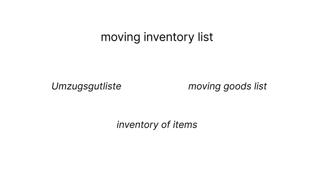 moving inventory list Umzugsgutliste  moving g...