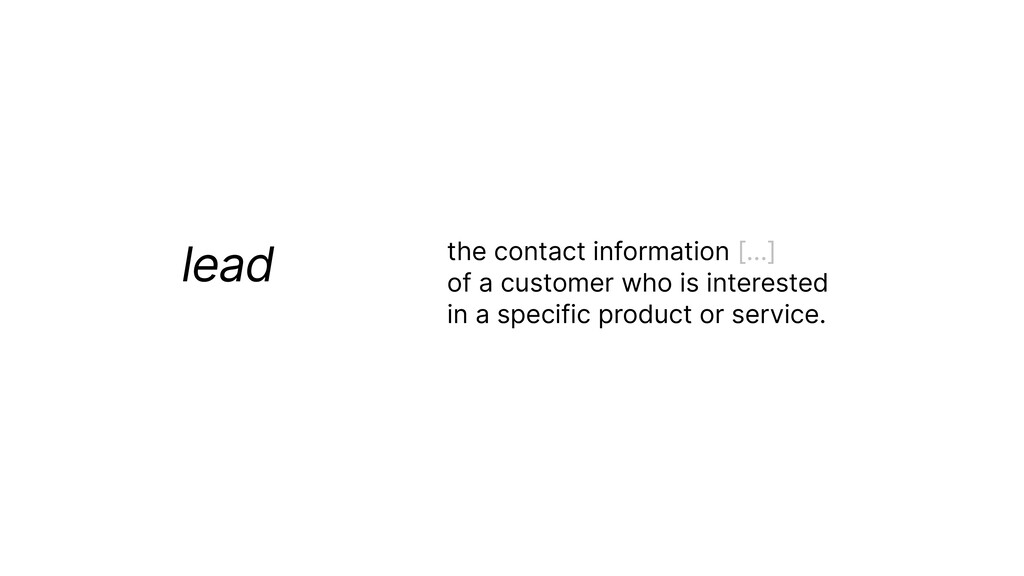 lead the contact information […]   of a custome...
