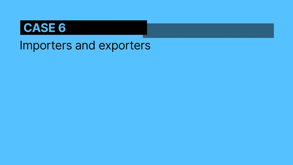 Importers and exporters CASE 6