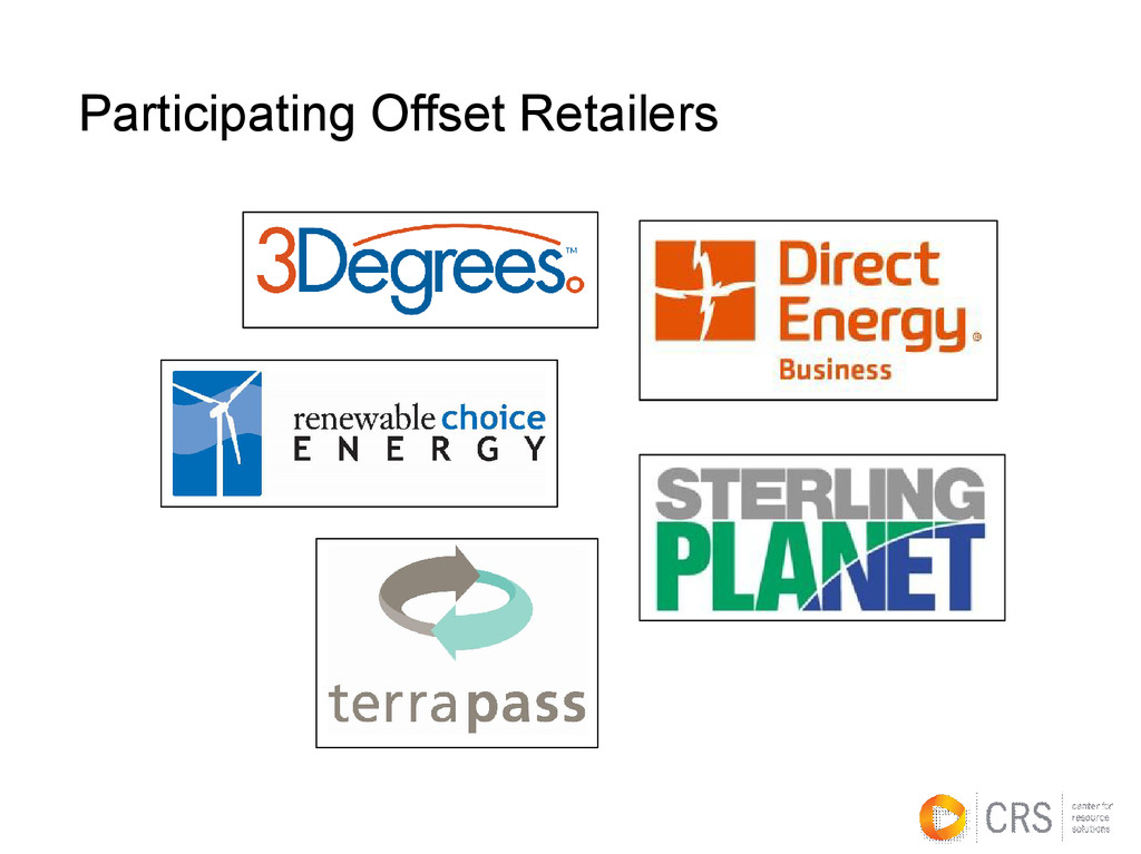 Participating Offset Retailers