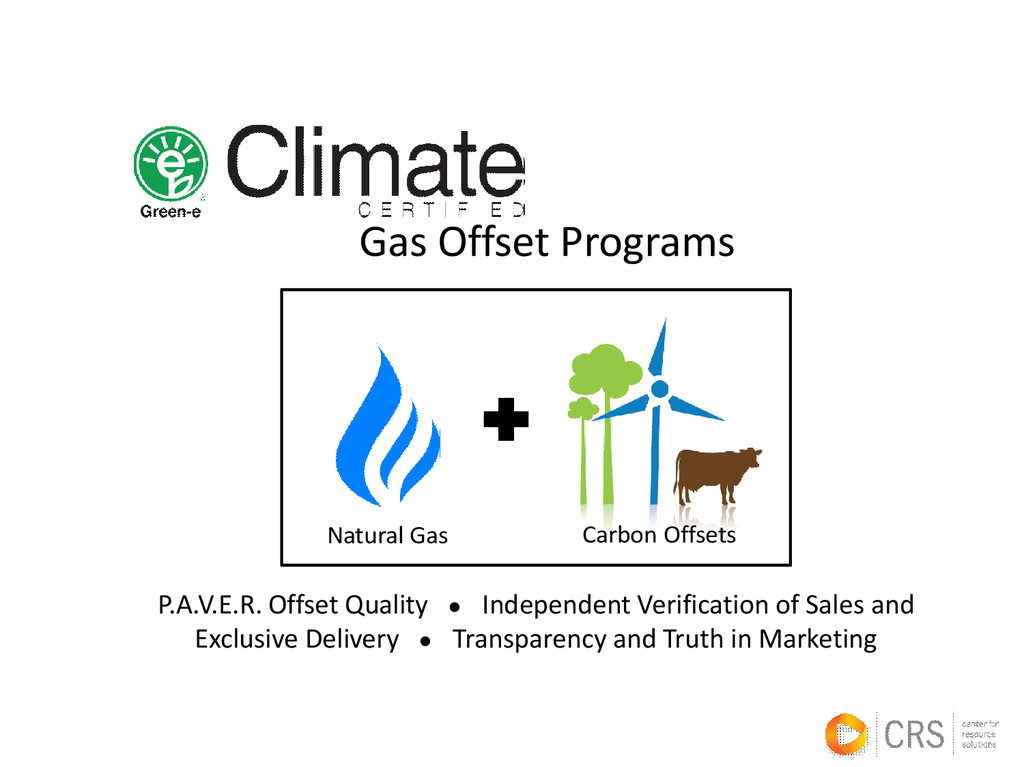 Gas Offset Programs Natural Gas Carbon Offsets ...