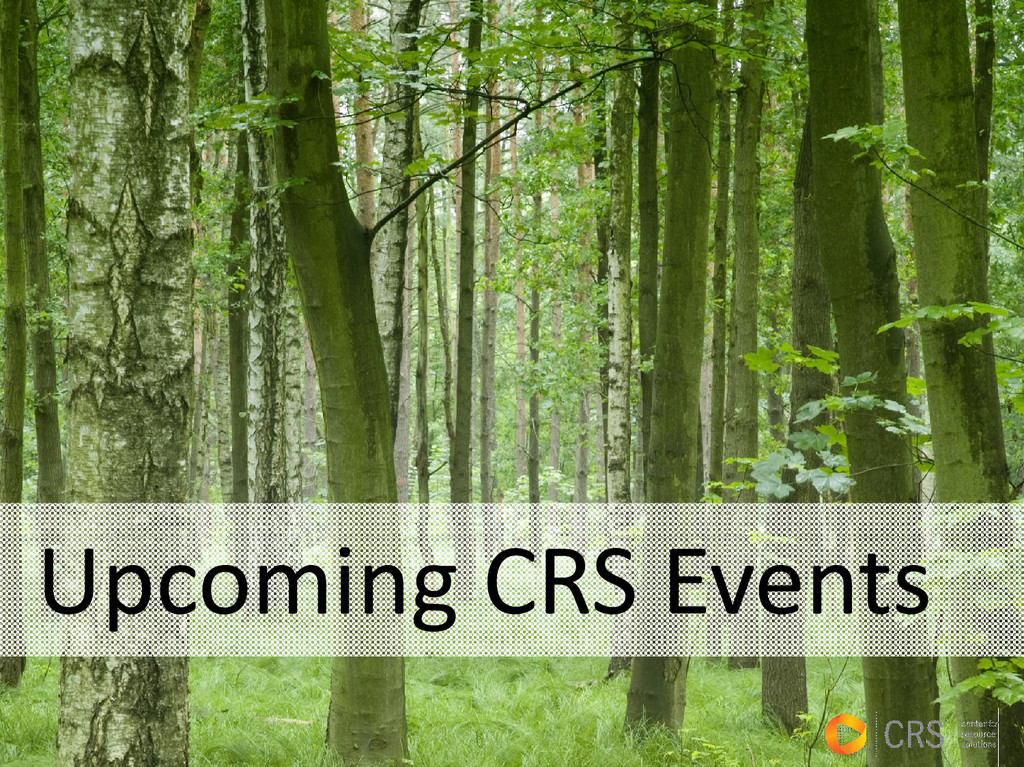 Upcoming CRS Events