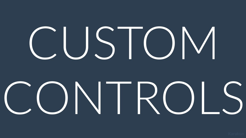 Karakun CUSTOM CONTROLS