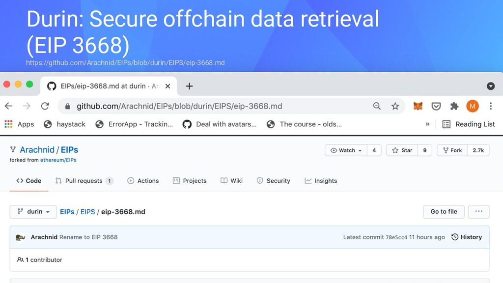 Durin: Secure offchain data retrieval (EIP 3668...