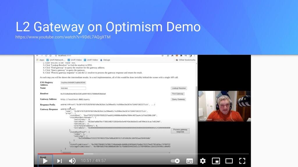 L2 Gateway on Optimism Demo https://www.youtube...