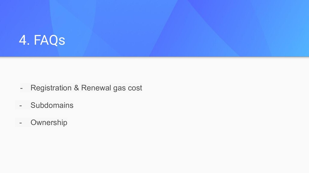 - Registration & Renewal gas cost - Subdomains ...