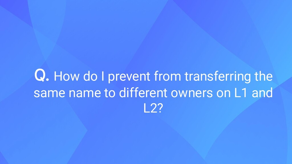 Q. How do I prevent from transferring the same ...