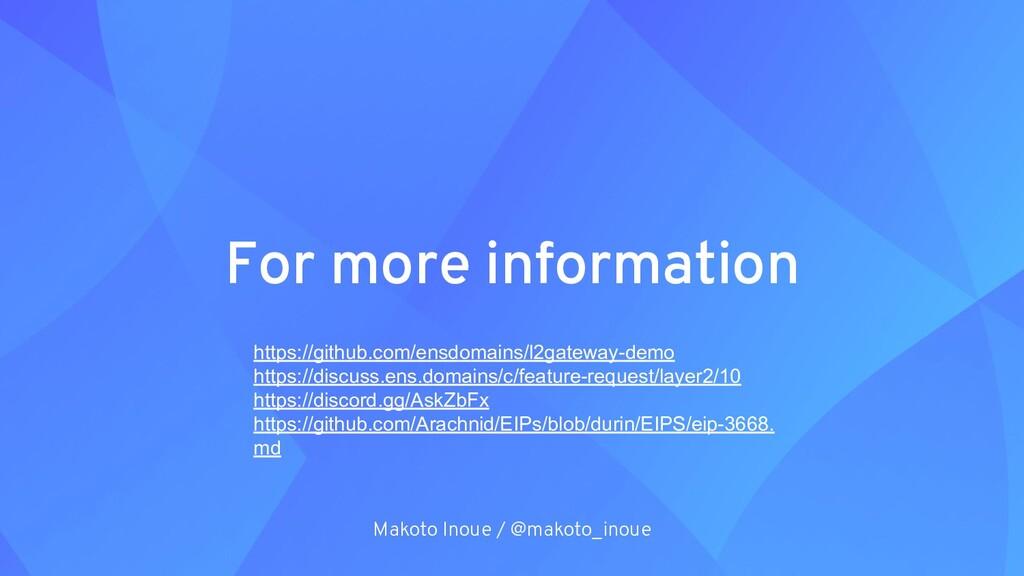 For more information Makoto Inoue / @makoto_ino...