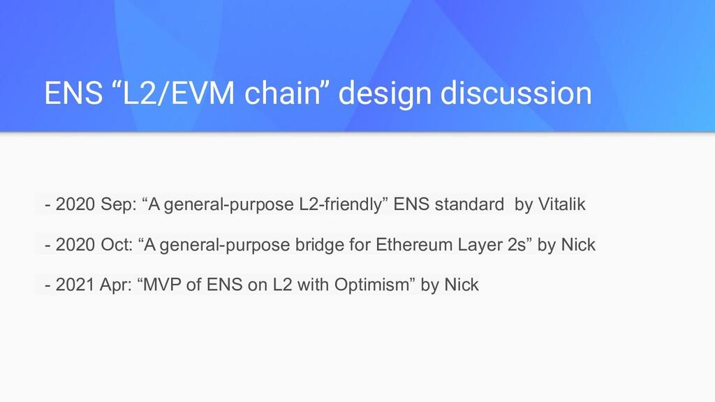 """ENS """"L2/EVM chain"""" design discussion - 2020 Sep..."""