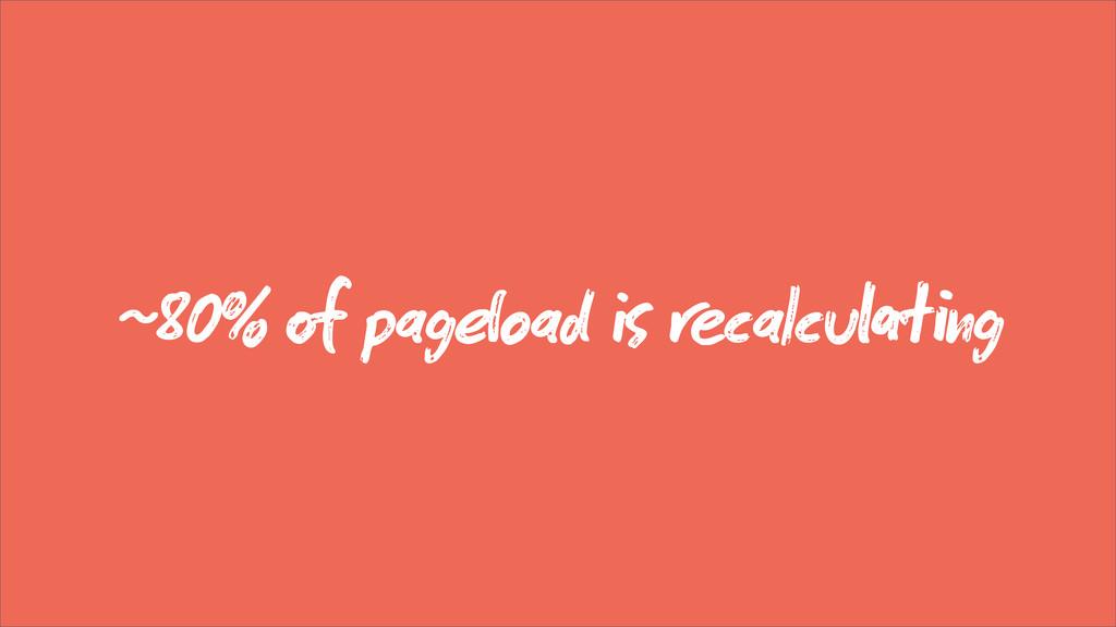 ~80%  pagoad  calcung