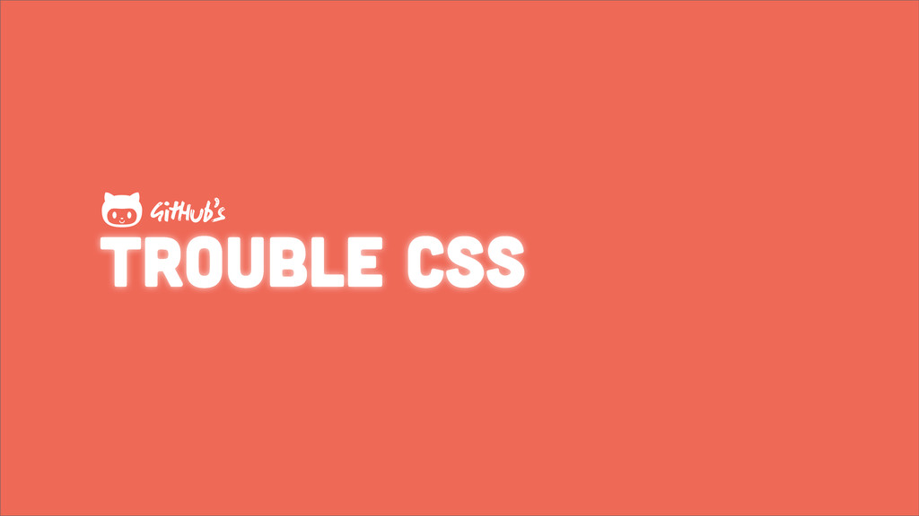 trouble css GHub's 