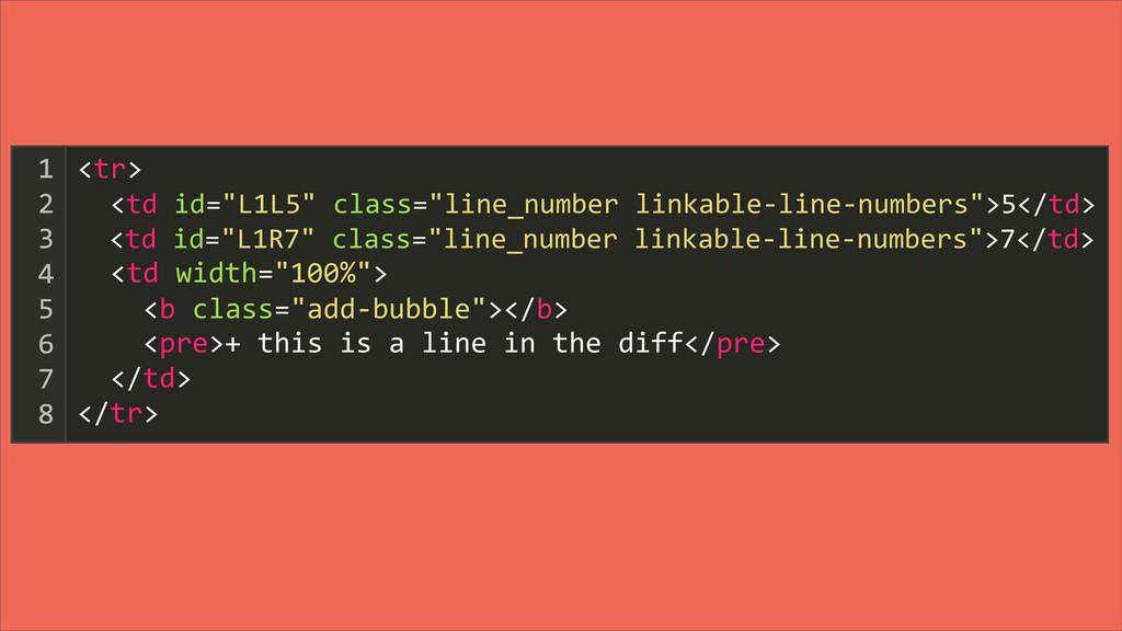 """<tr>   <td id=""""L1L5"""" class=""""line_nu..."""