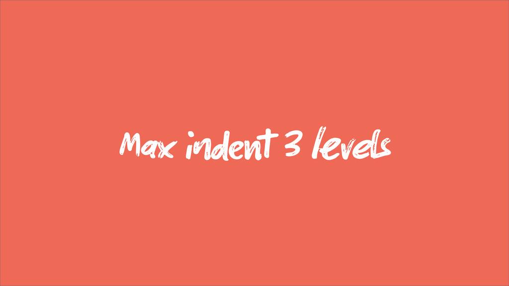 Max  3 vs