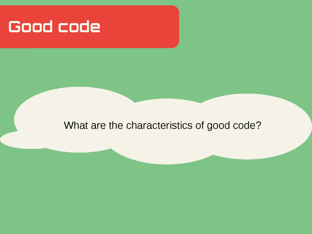 Good code Hidden Slide Slower What are the char...