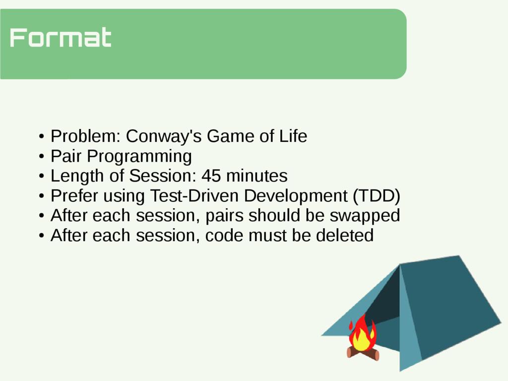 Format Hidden Slide Slower ● Problem: Conway's ...