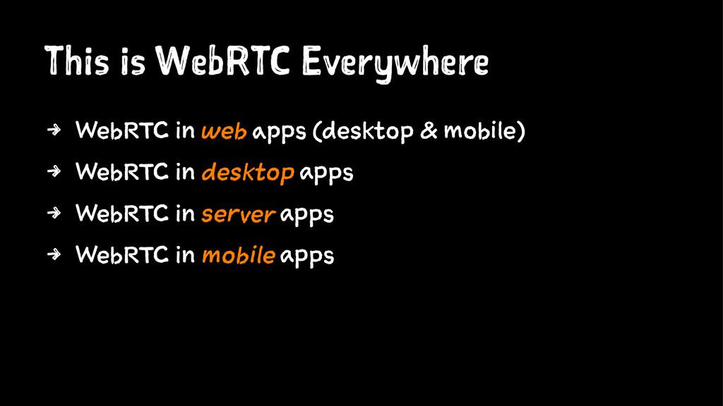 This is WebRTC Everywhere 4 WebRTC in web apps ...