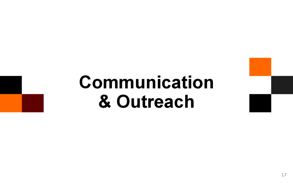 17 Communication & Outreach