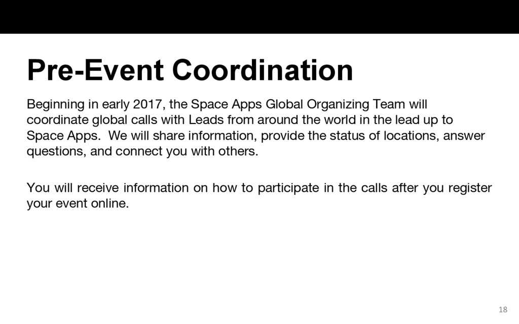 Beginning in early 2017, the Space Apps Global ...