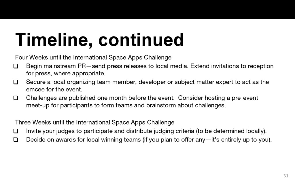 Four Weeks until the International Space Apps C...