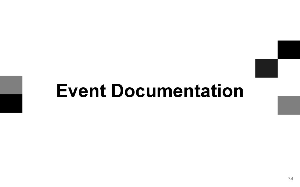34 Event Documentation