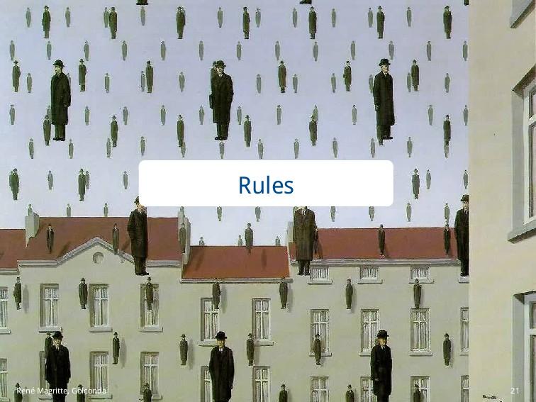 Rules René Magritte, Golconda 21