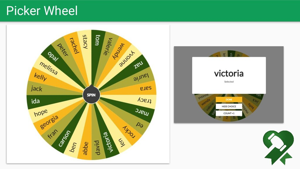 Picker Wheel