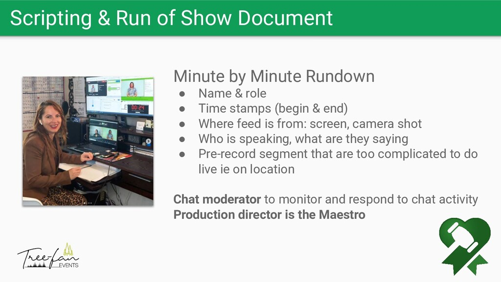 Scripting & Run of Show Document Minute by Minu...