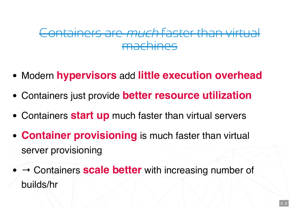 Containers are much faster than virtual machine...