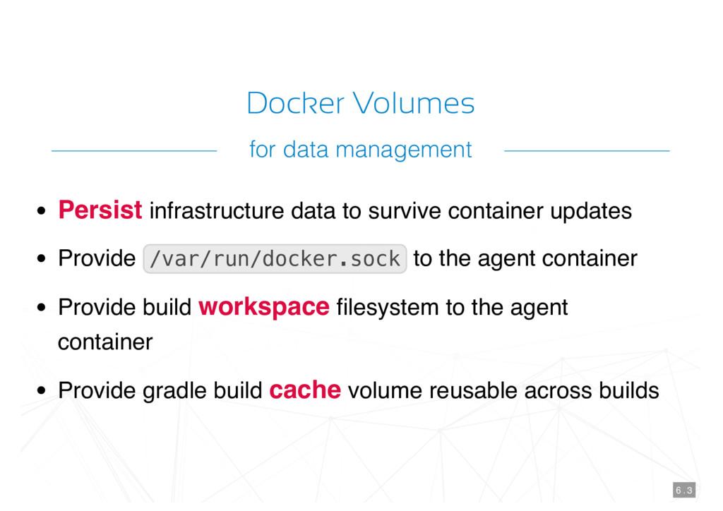 Docker Volumes Persist infrastructure data to s...
