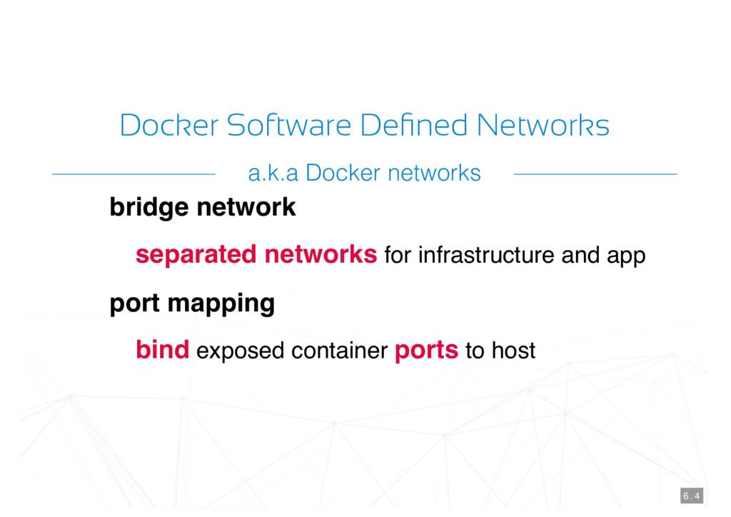 Docker Software Defined Networks bridge network ...