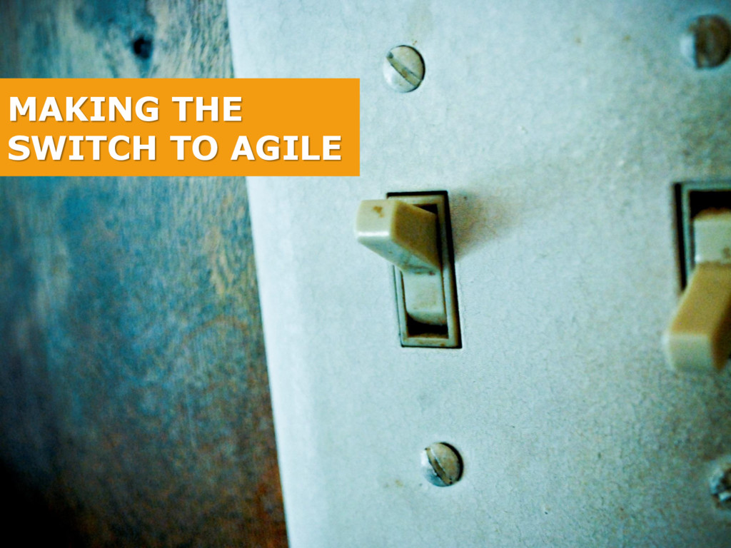 MAKING THE SWITCH TO AGILE