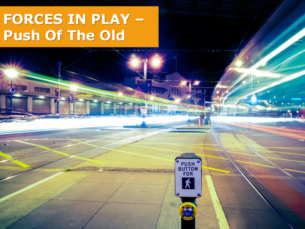 FORCES IN PLAY – Push Of The Old