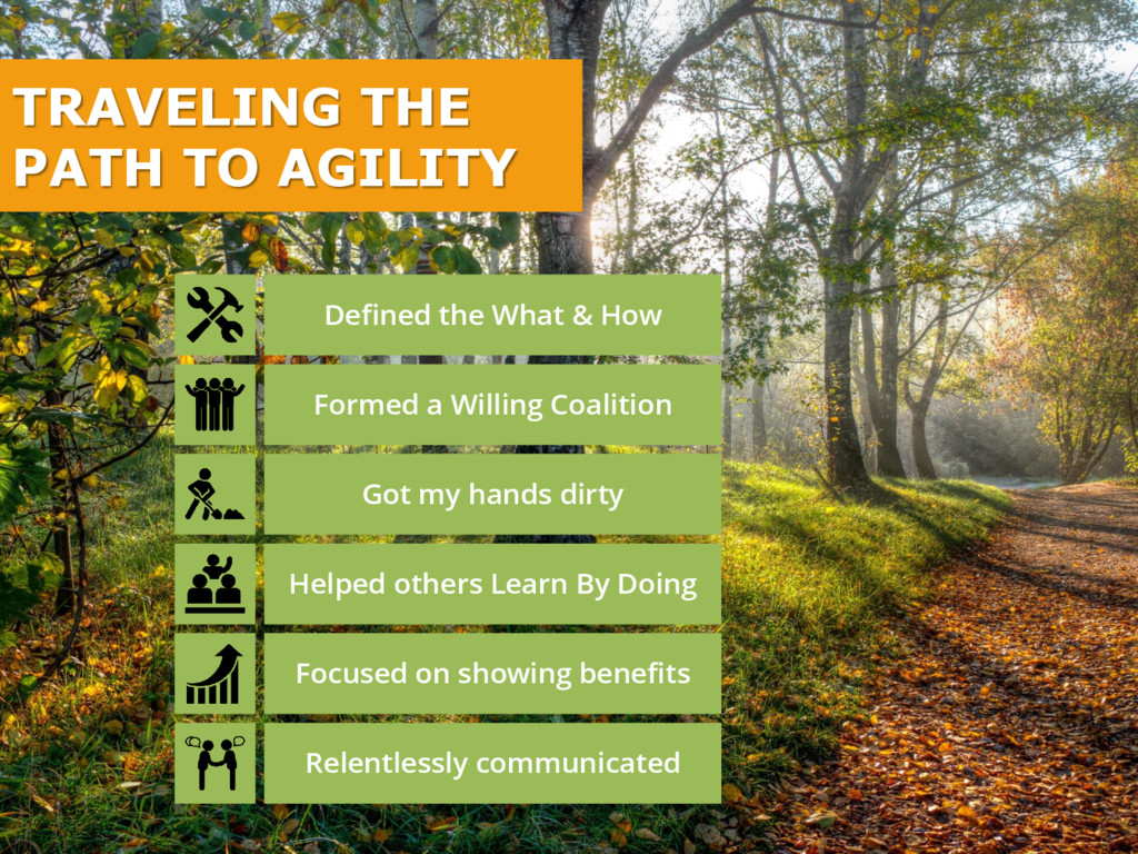 TRAVELING THE PATH TO AGILITY Defined the What ...