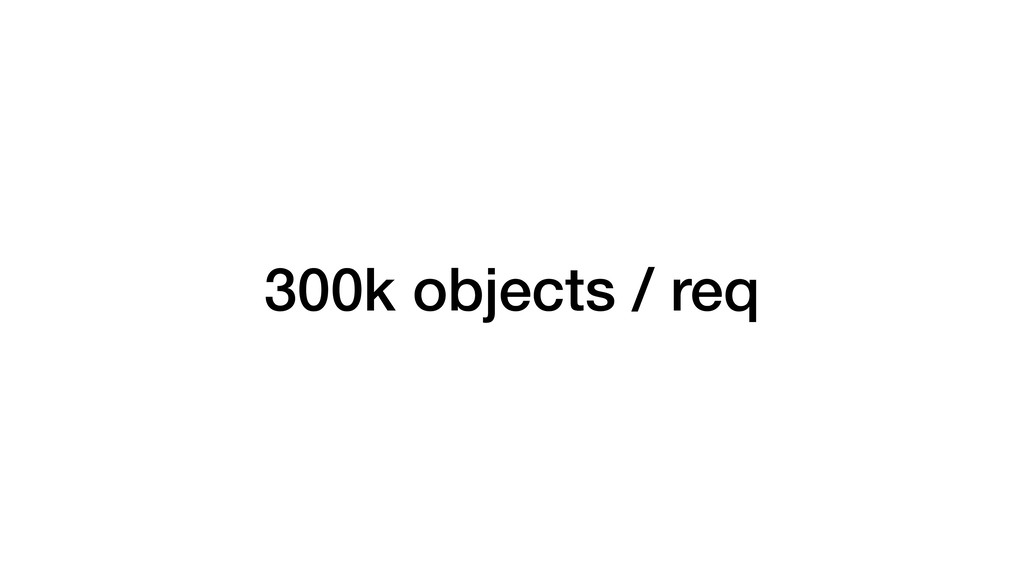 300k objects / req