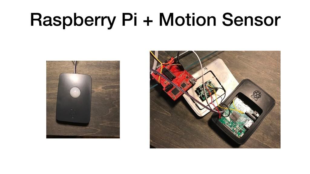 Raspberry Pi + Motion Sensor
