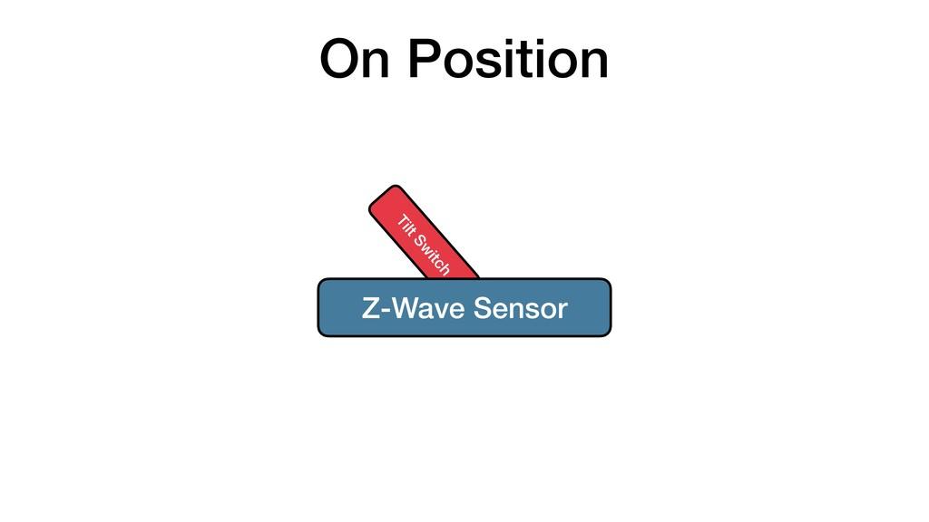 On Position Tilt Sw itch Z-Wave Sensor