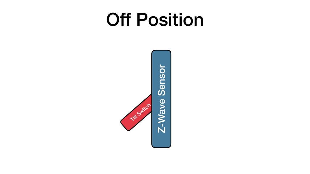 Off Position Tilt Sw itch Z-Wave Sensor